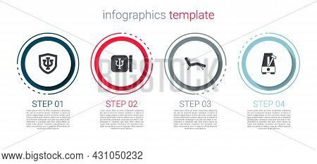 Set Psychology, Psi, , Armchair And Metronome With Pendulum. Business Infographic Template. Vector