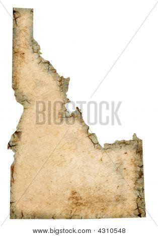 Grungy Idaho Map