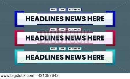 Headlines News Video Lower Third Vector Template