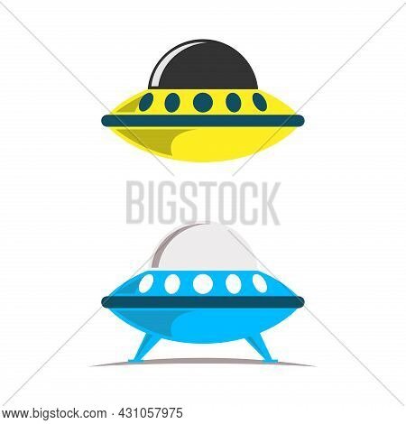Ufo Icon. Ufo Vector Isolated On White Background. Ufo Alien Spaceship. Ufo Logo Simple Sign