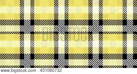 Vector Yellow Plaid Check Teen Seamless Pattern In Geometric Abstract Style Can Be Used For Summer F
