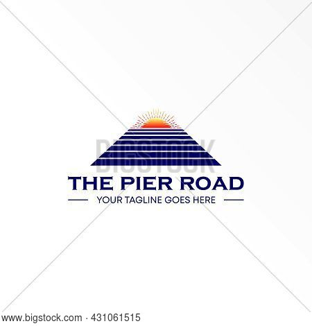 Bridge Logo Free Vector Stock. Sunrise Abstract Design Concept. Can Be Used As A Symbol Related To H