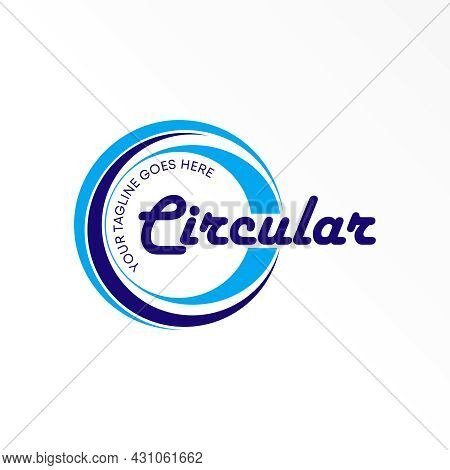 Letter Circular Logo Free Vector Stock. Circle Abstract Design Concept. Can Be Used As A Symbol Rela