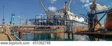 Dry Dock In The  Chernomorsk Shipyard
