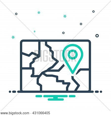 Mix Icon For Region Field Zone Scope Realm Area Map Gps Navigation Location Whereabouts
