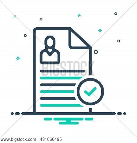 Mix Icon For Register Record Put-on-record Enter-file Report  Okay Document Acceptance