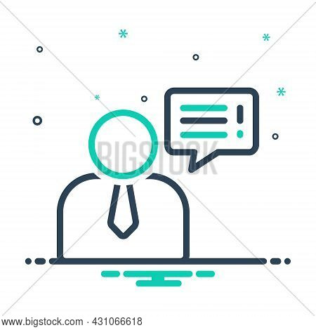 Mix Icon For Advice Request Counsel Guidance Bubble Chat Conversation Message