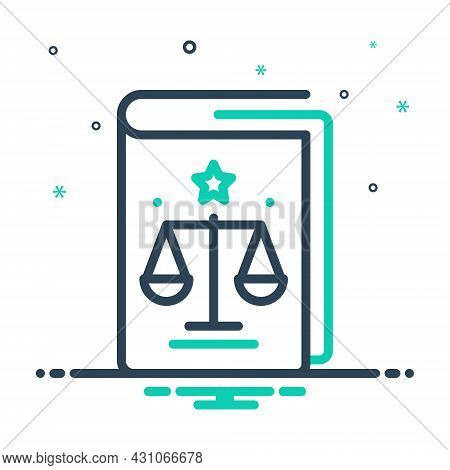 Mix Icon For Regulation Law Precept Governance Compliance Book