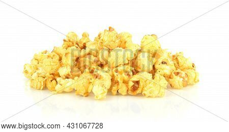 A Popcorn  Isolated On A White Background