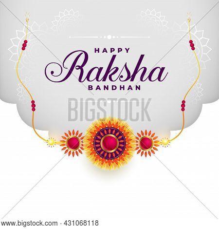 Indian Raksha Bandhan Festival Background With Rakhi Design