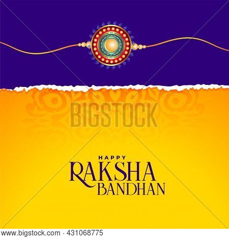 Indian Raksha Bandhan Festival Traditional Greeting Design Vector Illustration