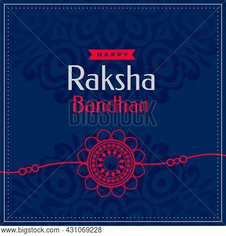 Happy Raksha Bandhan Traditional Festival Card Design Vector Illustration