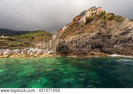 Manarola Village, Cinque Terre National Park In Liguria, La Spezia, Italy, Europe. Unesco World Heri