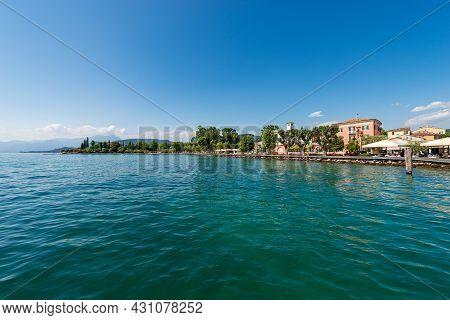 Lakefront Of The Small Bardolino Village, Tourist Resort On The Coast Of The Lake Garda (lago Di Gar