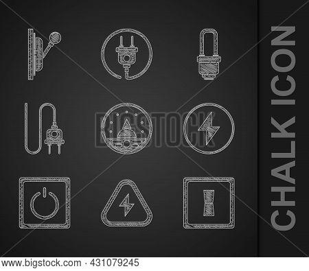 Set Ampere Meter, Multimeter, Voltmeter, High Voltage, Electric Light Switch, Lightning Bolt, Plug,