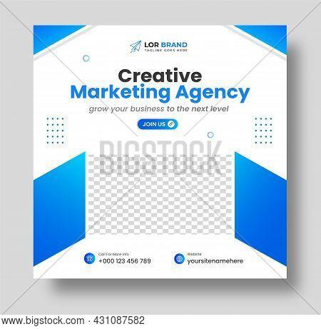 Digital Marketing Post Banner, Digital Marketing  Social Media Post Banner. Business Marketing Post