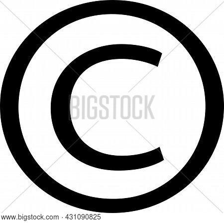 Copyright Icon Isolated On White Background , Unicode, Web Copyright, Work