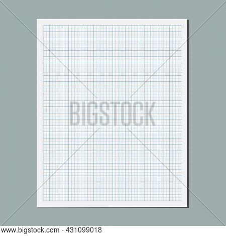 Graphical Blank Paper Sheet, Empty Square Coordinate Grid Lined Plotting Paper, Student Notebook Pag