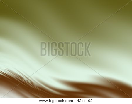 Abstract Wavy Background In Olive And Burnt Sienna