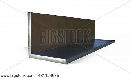 L-bar Rolled Metal, Isolated Cg Industrial 3d Illustration
