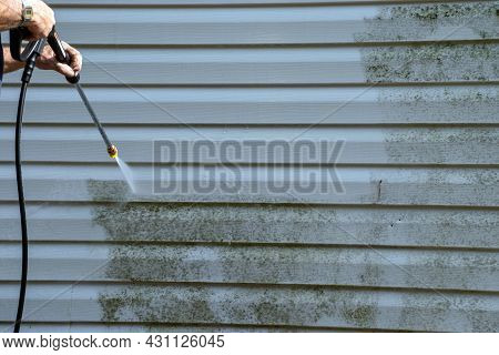 The Vinyl Siding Is Molded And Slimy But A Good Power Washing Takes Care Of The Problem Nicely.