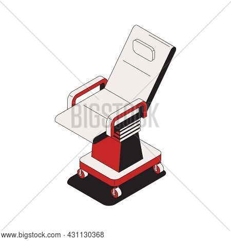 Oncology Isometric Composition With Isolated Image Of Medical Chair Vector Illustration