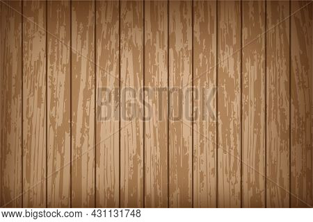Realistic Old Wall With Wood Texture. Natural Brown Wooden Background. Background With Antique Woode