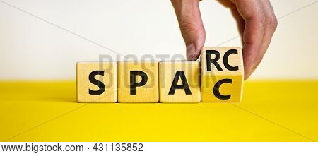 Sparc, Special Purpose Acquisition Rights Company Symbol. Cubes With Words 'sparc, Spac' On Beautifu