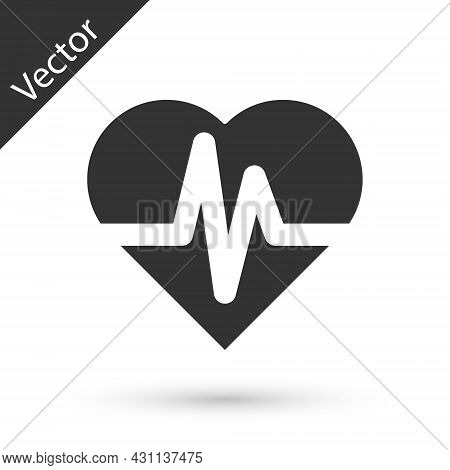 Grey Health Insurance Icon Isolated On White Background. Patient Protection. Security, Safety, Prote