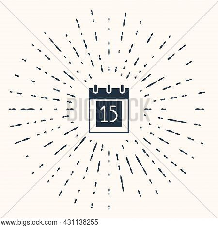 Grey Happy Independence Day India Icon Isolated On Beige Background. Flyer Design For 15th August. A