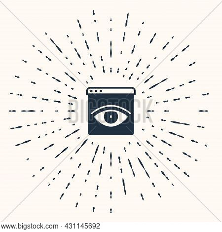 Grey Browser Incognito Window Icon Isolated On Beige Background. Abstract Circle Random Dots. Vector