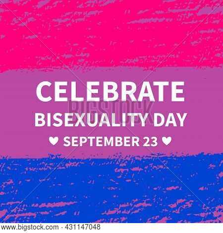 Bisexuality Day Typography Poster. Lgbt Community Event Celebrate On September 23. Vector Template F