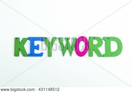 Letters Of The Alphabet Are Colored With The Word Keyword