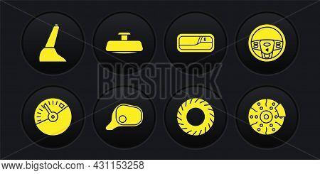 Set Speedometer, Steering Wheel, Car Mirror, Tire, Door Handle, Brake Disk With Caliper And Handbrak