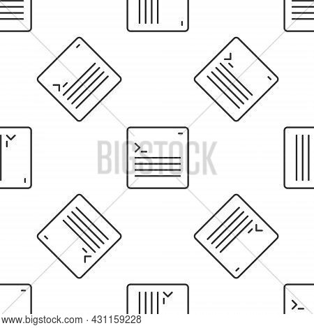 Grey Line Software, Web Developer Programming Code Icon Isolated Seamless Pattern On White Backgroun
