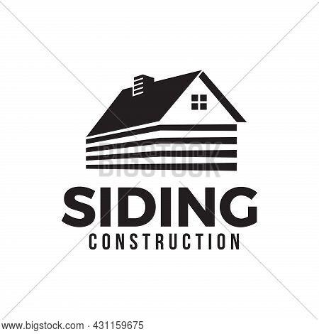House Siding Construction Logo Vector Template Eps