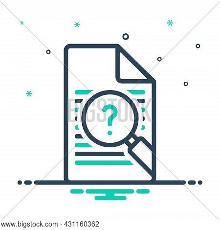 Mix Icon For Inquiry Inspection Survey Investigation Examination Checkout Analysis