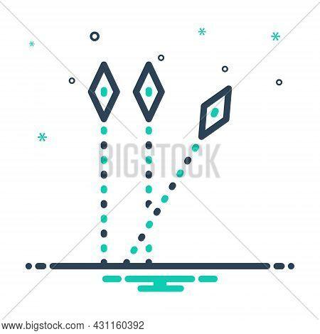 Mix Icon For Separate Wander Deviate Distinct Detached Aloof Segregate