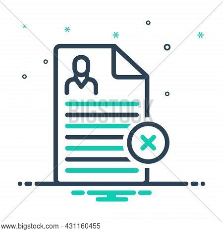 Mix Icon For Reject Nay Denial Refuse Cancel Dismiss Cancellation Document Disapprove