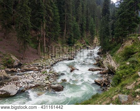 River In Bluewater Kalam Valley In Swat Pakistan