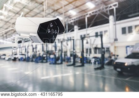 Cctv Ip Camera Wireless Of Security Outdoor System With Waterproof System In The Industrial Factory