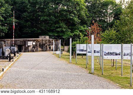 Wegierska Gorka, Poland, 08.07.2021. Wedrowiec World War Ii Fort Entrance In Wegierska Gorka With Ol