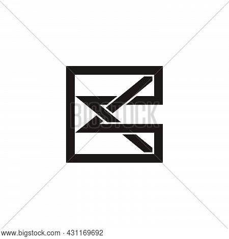 Letter Ck Simple Geometric Overlap Line Logo Vector