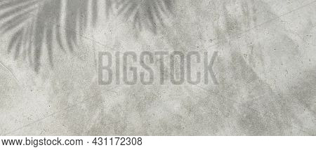 Empty Space Of Plaster Cement Concrete Wall Grunge Texture Background With Light Shading.