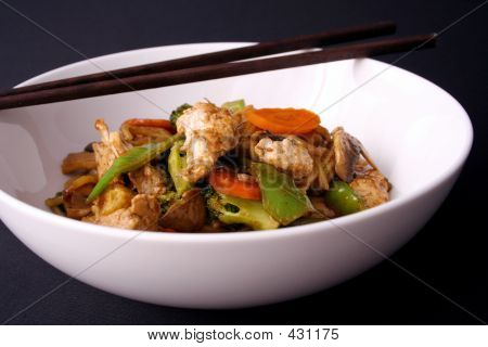 Stir Fry And Chop Sticks