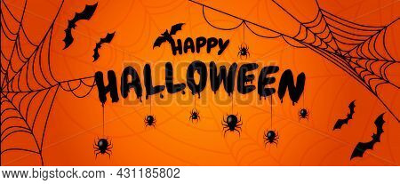 Happy Halloween Lettering. Design For Halloween Banner, Poster, Greeting Card, Party Invitation