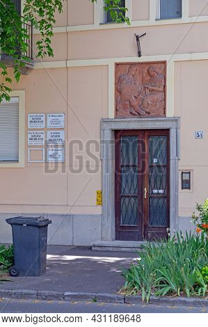 Szeged, Hungary - June 16, 2021: Obstetrician Gynecologist Doctors Building At Josika Street In Szeg