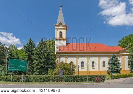 Morahalom, Hungary - June 16, 2021: Saint Laszlo Roman Catholic Church St. Ladislaus I Of Hungary.
