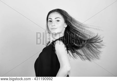 Long And Healthy Hair. Fashion And Beauty Salon. Sexy Female. Sexy Woman With Long Hair. Trendy Look