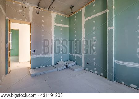 Empty White Room With Repair And Without Furniture